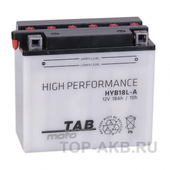 TAB Moto High performance HYB18L-A 12V 18Ah 235А (180х90х162) обр. пол. сухоз.