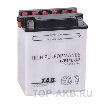 TAB Moto High performance HYB14L-A2 12V 14Ah 160A (134х89х166) обр. пол. сухоз.