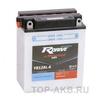 RDrive YB12AL-A 12V 12Ah 165А обр. Heavy Duty (134x81x162 ) eXtremal HD сухозаряж.