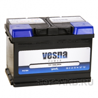 Vesna Power 74R (680A 278x175x190) 415074 57412
