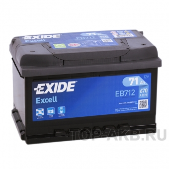 Exide Excell 71R (670A 278x175x175) EB712