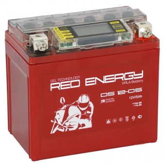 Red Energy DS 1205, 12V 5Ah 85А (114x70x106) YTX5L-BS, YTZ7S, YT5L-BS