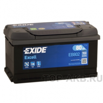 Exide Excell 80R (700A 315x175x175) EB802